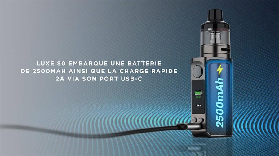 kit luxe 80 Vaporesso batterie