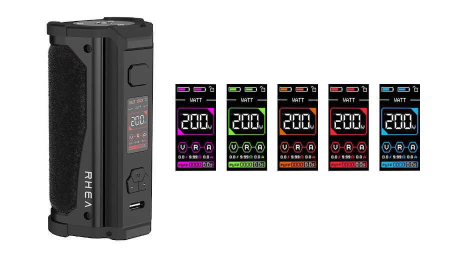 Box Rhea 200W Aspire modes
