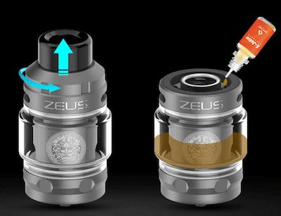 Clearomiseur Zeus Sub-Ohm 5 ml Geek Vape : réservoir