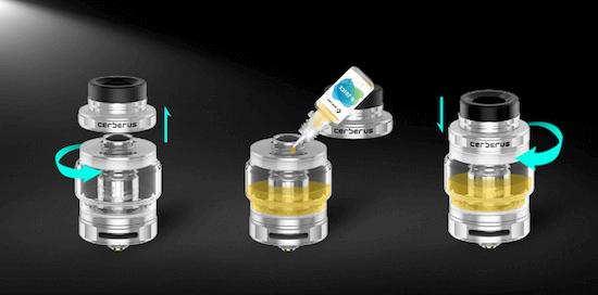 Remplissage du kit Aegis Mini 80W de Geek Vape