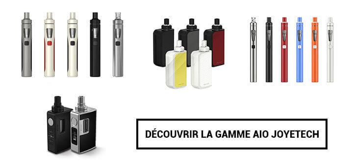 la gamme de cigarettes électroniques aio joyetech