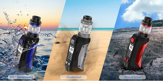 E-cig incassable et waterproof : Kit Aegis Mini 80W de Geek Vape
