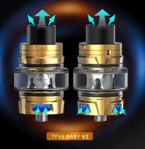 TFV8 Baby V2 Smok : airflow